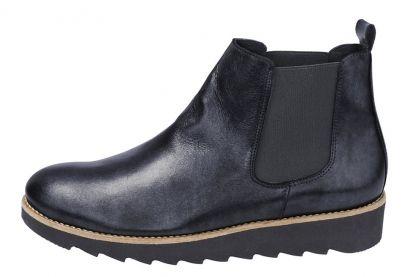 Dámské Kotníkové Boty Z Pravé Kůže HEINE #Kotníkové_Boty #Pravé_Kůže #boots #black_boots #winter_shoes #flat_platform