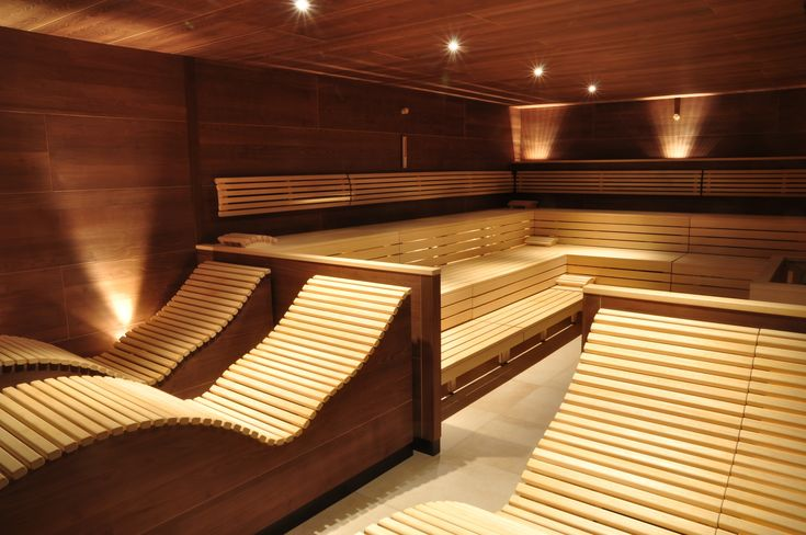 "nice benches, i like saunas that have ""benches"" as well as ""loungers"""