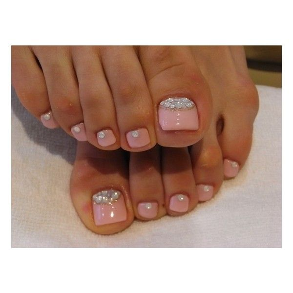 Chic Toe Nail Art Ideas for Summer found on Polyvore