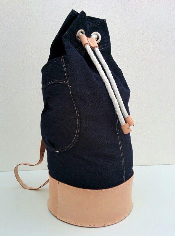 SAILOR. #duffle #bag #sailor #selvedge #canvas #32oz #italian #leather #madeinitaly #denim #indigo  habanerorucksacks.com