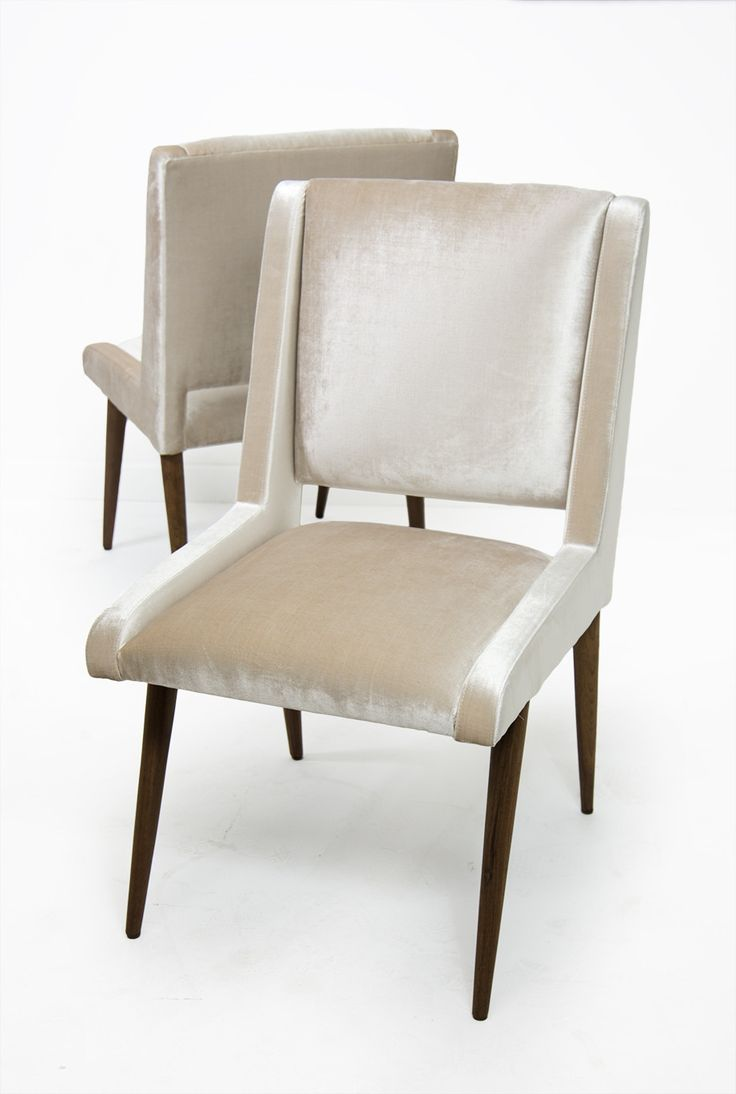 Mid Century Dining Chair In Trend Cashmere