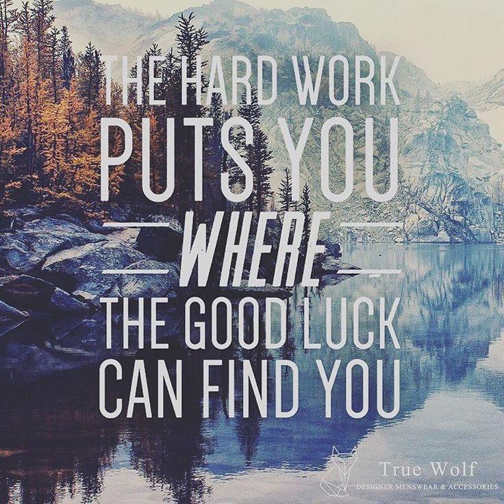 Work Hard, Dream Big #TrueWolf #ambition