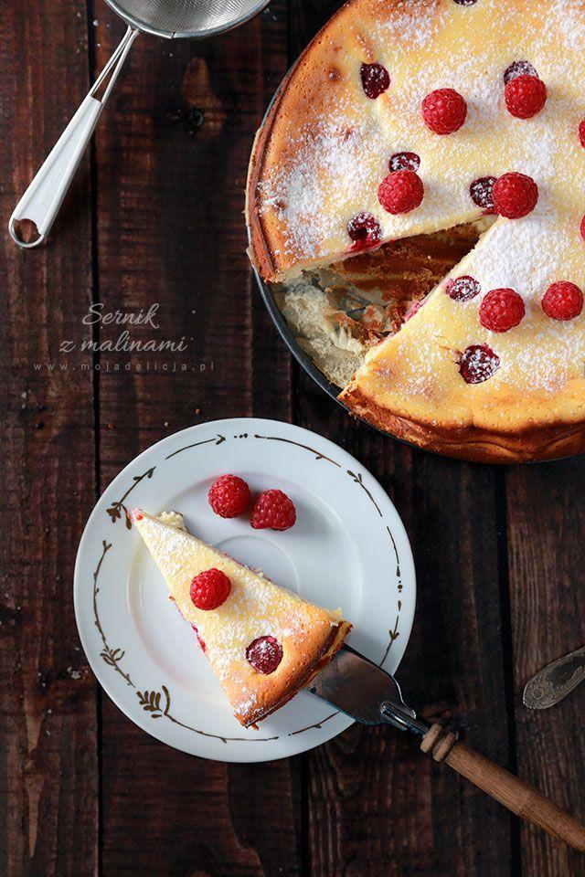 sernik z malinami / cheesecake with raspberries #food #photography #foodporn