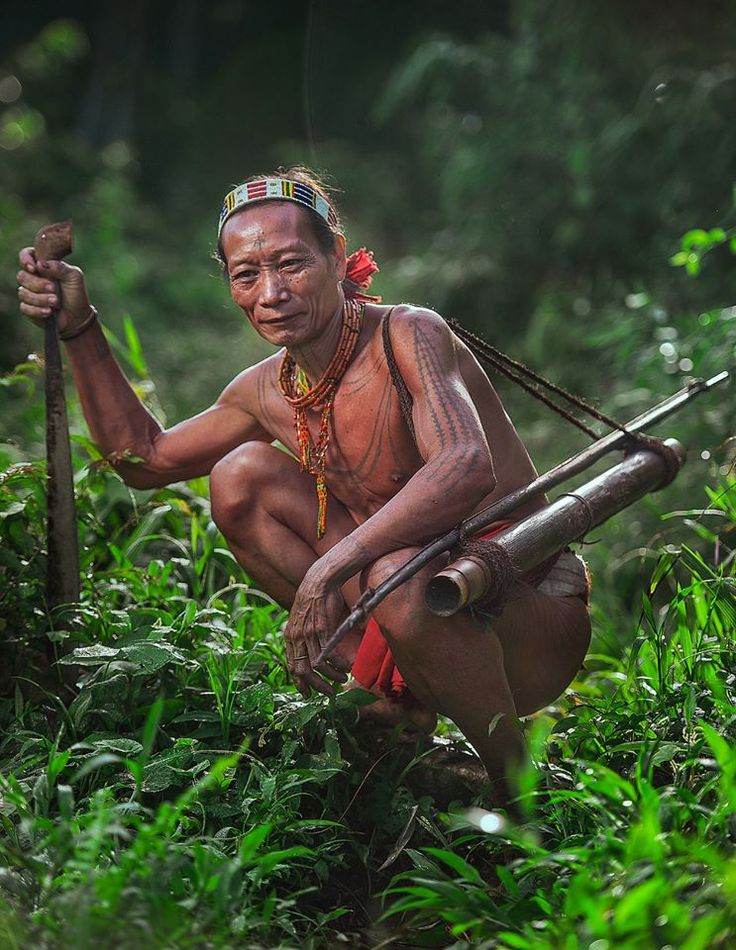 ~ Portrait of a Siberut hunter from the Mentawai Islands, Indonesia. ~