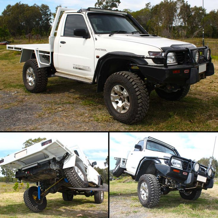 What's On The Hoist! GU #Nissan #Patrol #Ute - Custom 4x4 Accessory & Suspension Fitout #LiftKit #LongArms https://www.superiorengineering.com.au