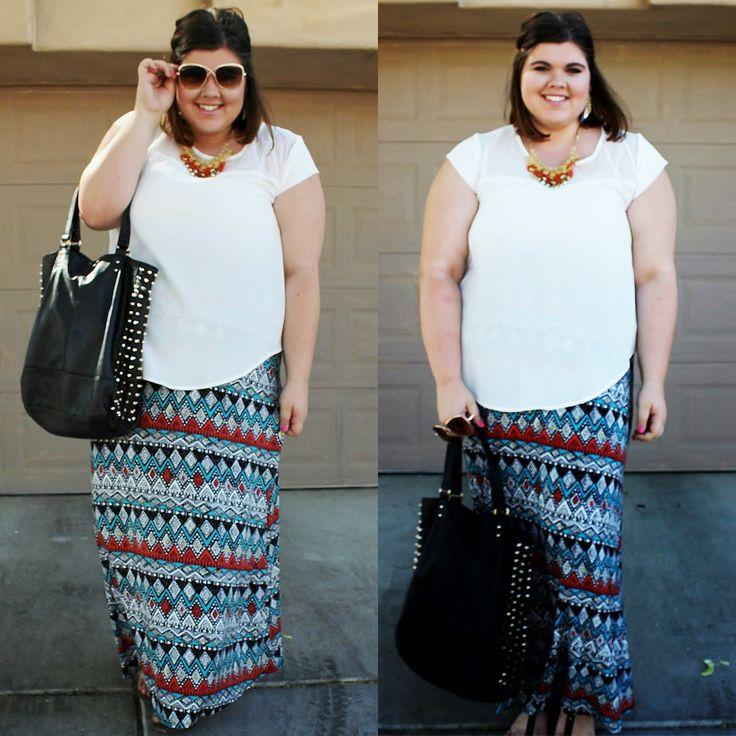 New Women Plus Size Maxi Skirt Printed Boho Long 1X 2X 3X XL