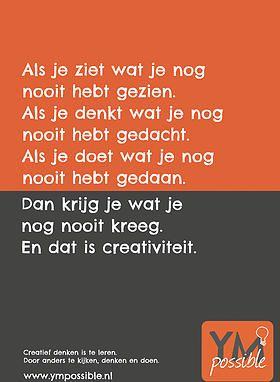 gratis poster creatief denken