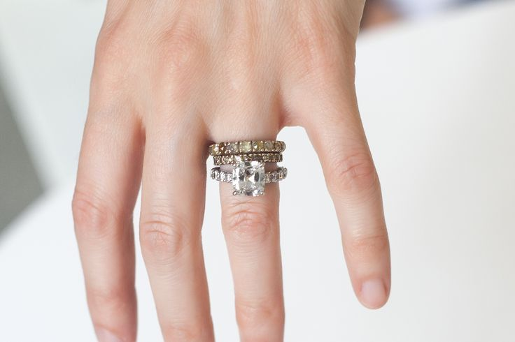 With a little dish soap, baking soda, and a toothbrush, your ring will be sparkling in no time.