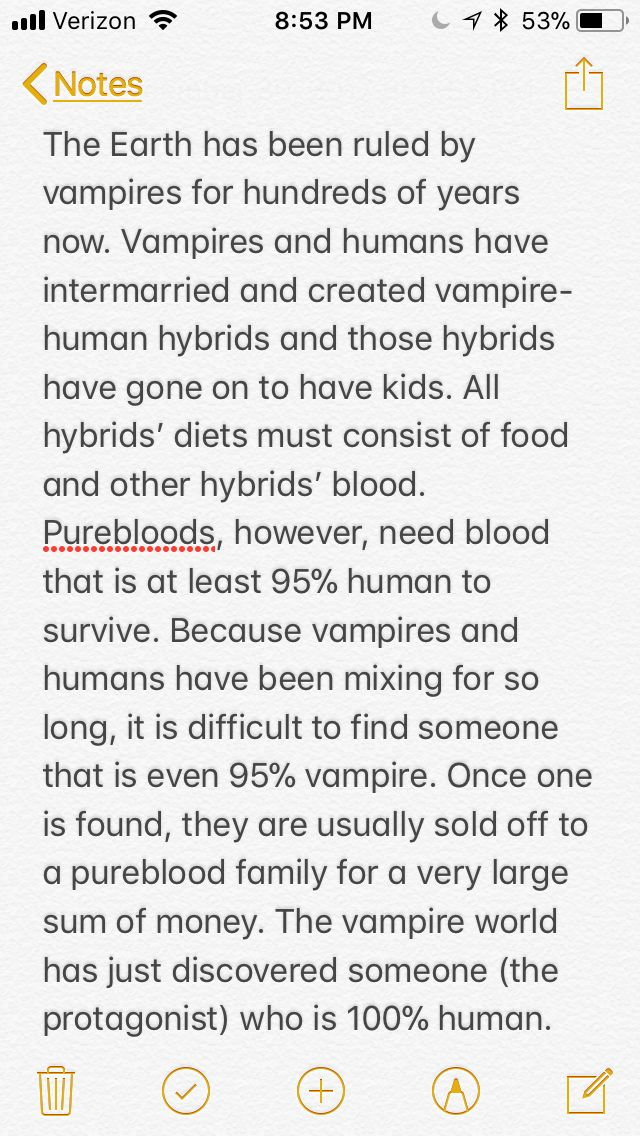 Vampire world writing prompt pureblood hybrid
