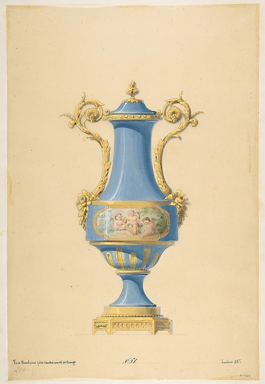 The Metropolitan Museum of Art - Design for a Porcelain Vase with Bronze Mount