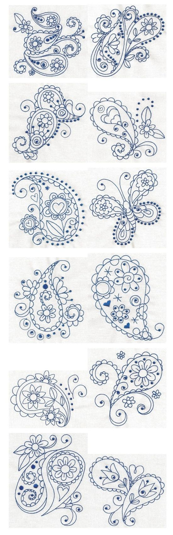 Embroidery | Free Maching Embroidery Designs | Paisley Bl | Postris