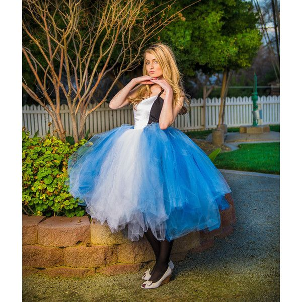 Alice in Wonderland Adult Tutu Dress Adult Tutu Dress Adult Costume... ($160) ❤ liked on Polyvore featuring dark olive, dresses e women's clothing