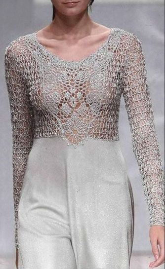 Crochet top as a top part of a dress top part