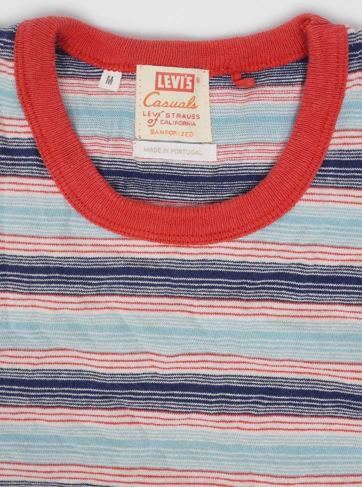 Levis Vintage 1960s Striped T-Shirt Cameo Blue