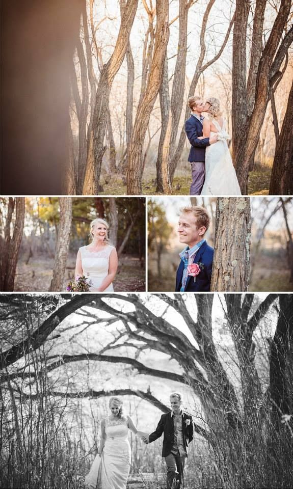 nelus + irma Got married between the magical trees of Nieu-Bethesta Eastern Cape Venue: Die Waenhuis  Photography: Charlierayphotography Dress & accessories : LOCA Bridal