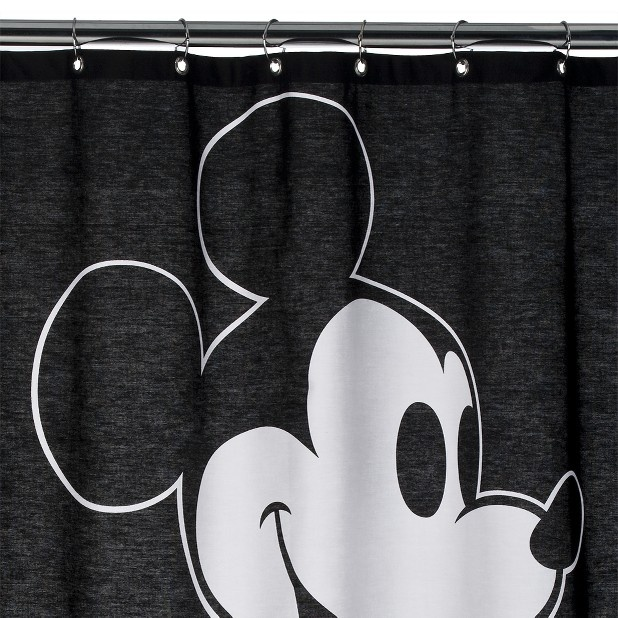 Disney Mickey Mouse Fabric Shower Curtain   Black I think one of my room  mates might like this. 24 best Mickey Mouse Shower Curtain images on Pinterest   Mickey