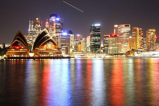 Sydney Skyline at night, via Flickr.