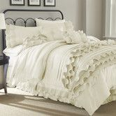 Found it at Wayfair - Anastacia 8 Piece Comforter Set in Pearl White