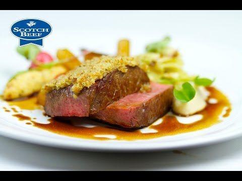 Michelin Star Chef Geoffrey Smeddle creates a Scotch Beef with bone marrow crust recipe