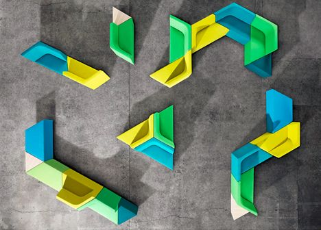 Tessellated Furniture: Tetris-Style Modular Seating System