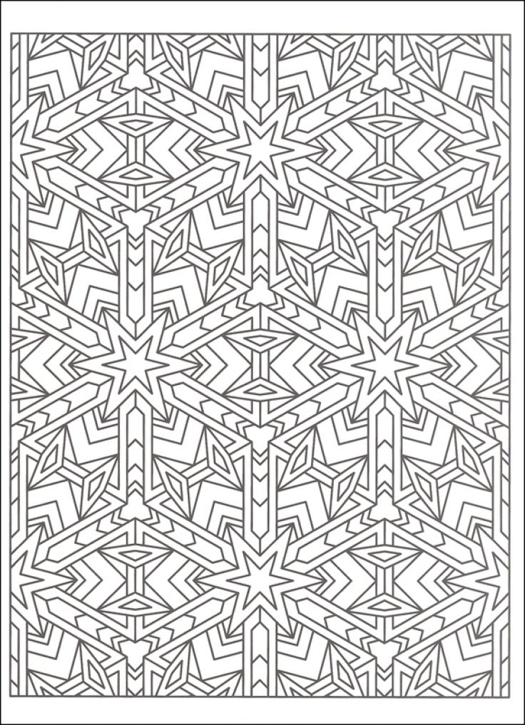 Free Tessellation Coloring Page To Print Out