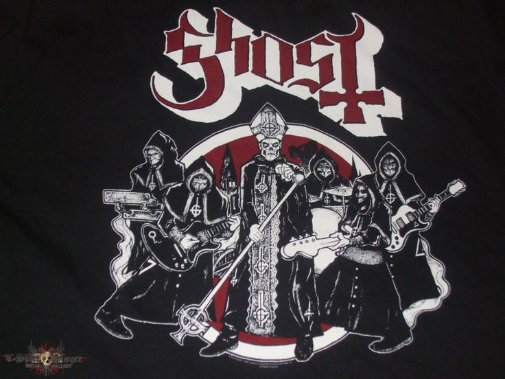 "GHOST ""Haze Over North America/RAMONES ROAD TO RUIN"" 2013 band tour shirt 