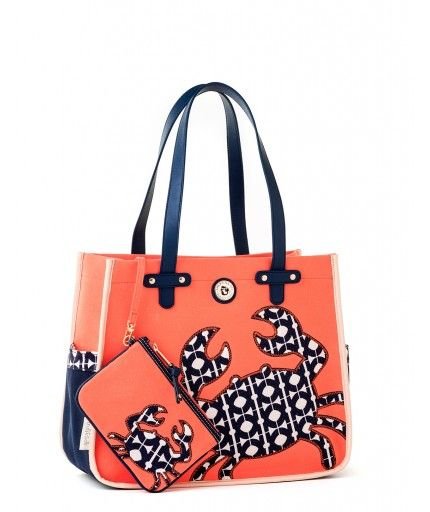 Spartina 449 Hilton Head Beach Bag. We absolutely LOVE the cute crab on this Spartina beach bag! Come on in to Chelsea's at Honey Creek Mall and see how it looks on your arm! Put one of our Spartina beach towels in it and see how it fits!