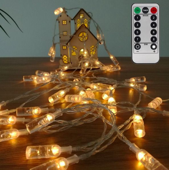 Details about White Fairy String Lights Outdoor Waterproof Indoor