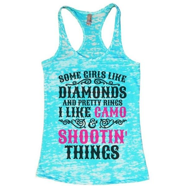 Womens Burnout Tank Top Diamonds and Pretty Rings Camo Country Shirt... ($22) ❤ liked on Polyvore featuring tops, blue camouflage shirts, camouflage tank, diamond tank, camo tank and camoflage shirt