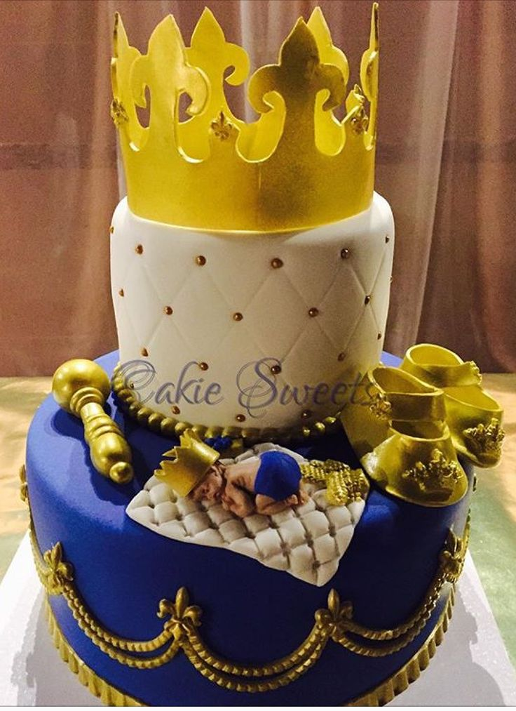 Royal Prince baby shower cake by Cakie Sweets. Check out our other creations at CakieSweets.weebly.com