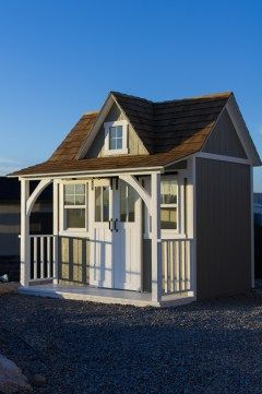 43 best unique shed designs images on pinterest for Detached garage utah