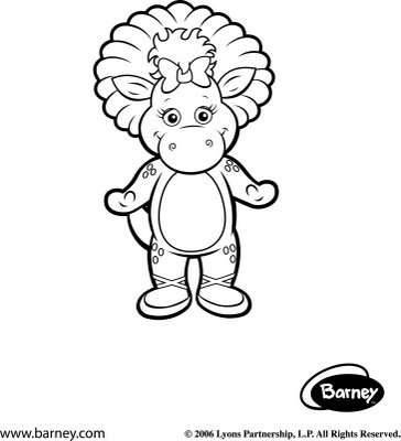 17 best images about barney the dinosaur on pinterest for Baby bop coloring pages