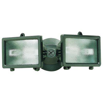 Heath-Zenith 2-Head 300-Watt Bronze Halogen Non-Motion Security Light