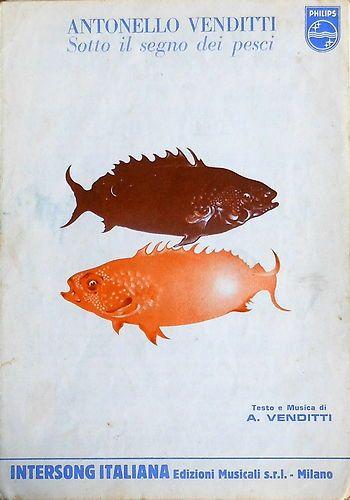 VENDO ♦ Antonello Venditti, Sotto il segno dei pesci - Spartito Originale 1978