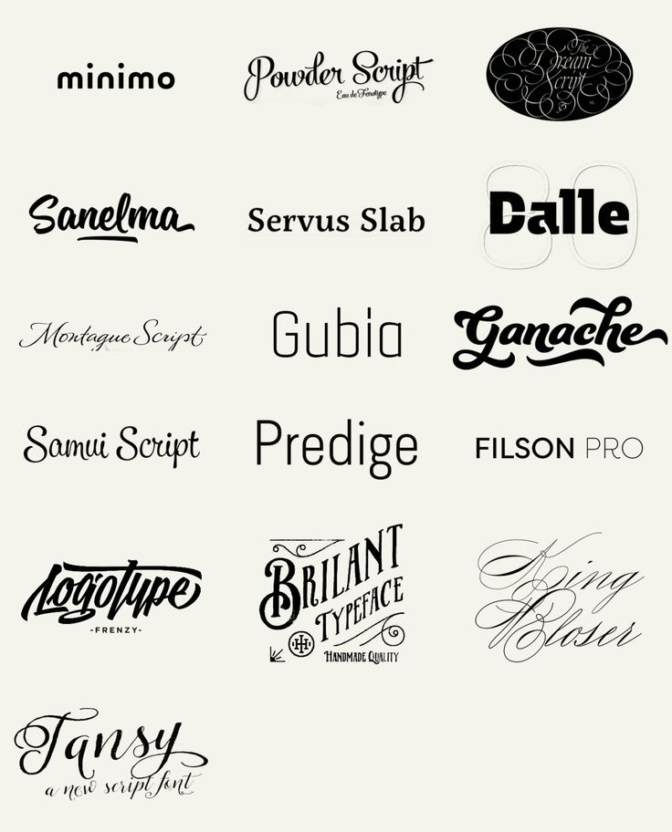 "betype: ""100 Best Fonts of 2014 To close the big feature I made to the best fonts of 2014 here I bring you a big wall post of the 100 fonts in a form of a logotype, just as the designers have decided..."