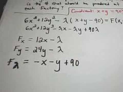 LaGrange Multipliers - Finding Maximum or Minimum Values using Lagrange…