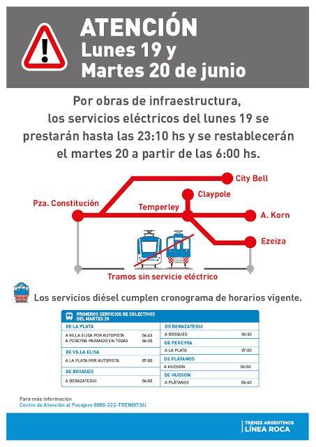 CRÓNICA FERROVIARIA: Línea Roca: Cronograma de horarios trenes de pasaj...