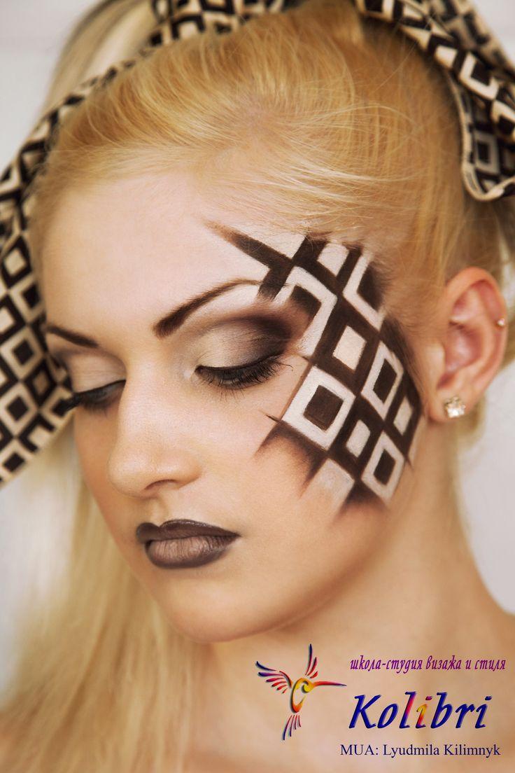 """Работа Школы """"Колибри"""", г. Винница Make-up: Людмилы Килимнюк  Фантазийный фейс-арт выполнен косметикой Graftobian HD Make-Up (TOP Cosmetics )#Graftobian #GraftobianHD #HD #HD_MakeUP #MakeUP #MakeUp_Artist #TopCosmetics #Top_Cosmetics #Beauty #Mua #TopcosmeticsUkraine"""