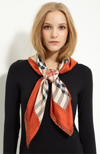 Burberry Check Silk Scarf - Easy Way to Dress Up an Office Look #PinstripeAndPearls #SummerFashion #Accessories