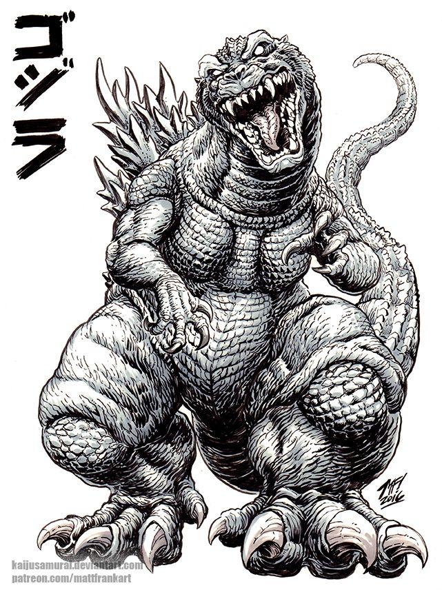 GMK Godzilla sketch by KaijuSamurai.deviantart.com on @DeviantArt