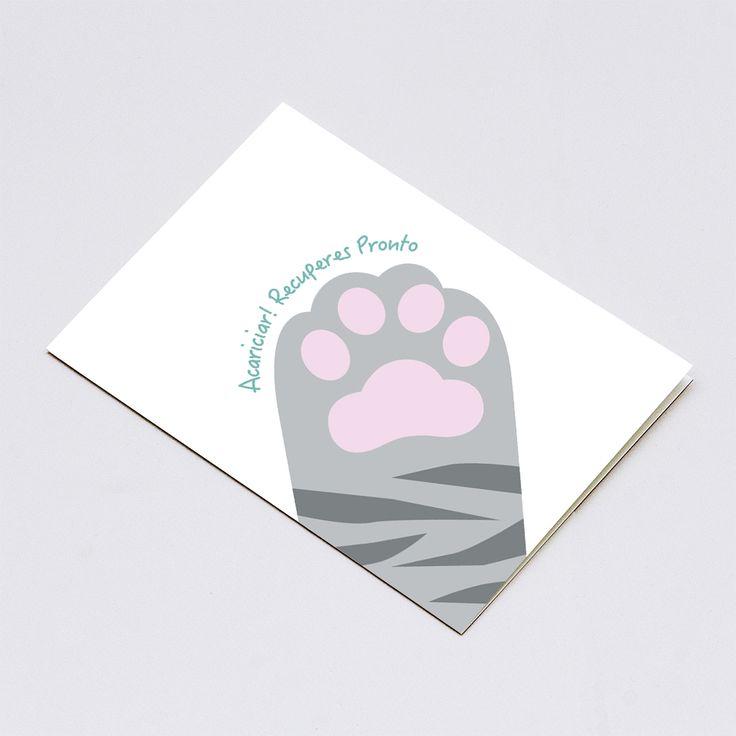 tarjetas de recuperate pronto / pata de gato