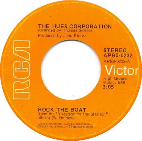 Hues Corporation - Rock the Boat - 1974. One of my first memories of hearing a song on the radio.