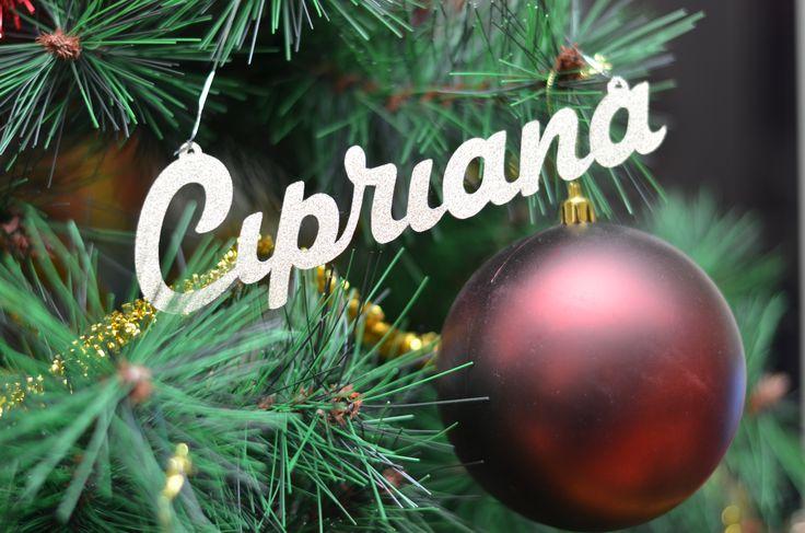 Numele tau poate atarna in crengile bradului anul acesta! Articole personalizate pentru decor, ideale pentru impodobirea bradului, Crăciun sau alte evenimente: http://pingsipong.ro/magazin-online/