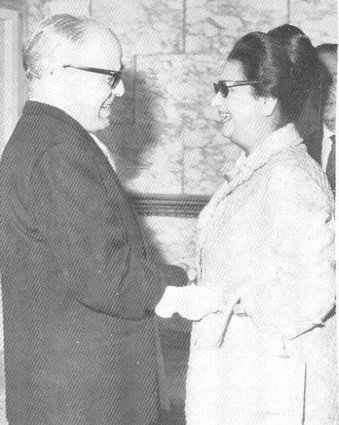umm kulthum with burkeba the algerian president