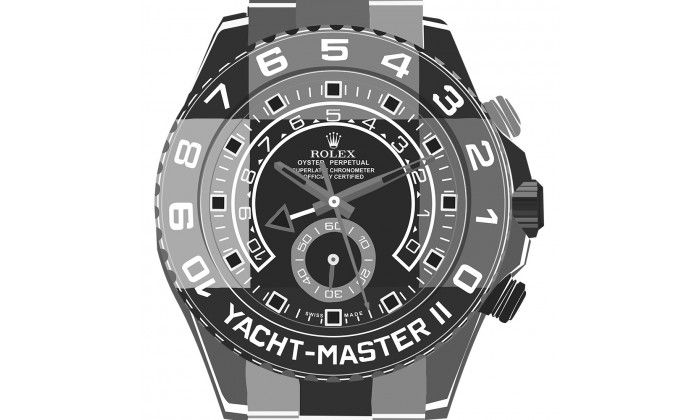 Yacht Master II GREYS Watch On White - Limited Edition of 20 only