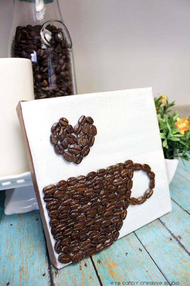Best 25 coffee bean art ideas on pinterest for Coffee crafts
