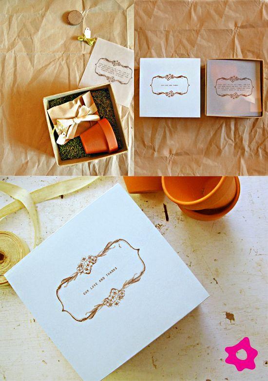Caixinha ecológica como lembrança de casamento | semeie amor / Blog da Sofia