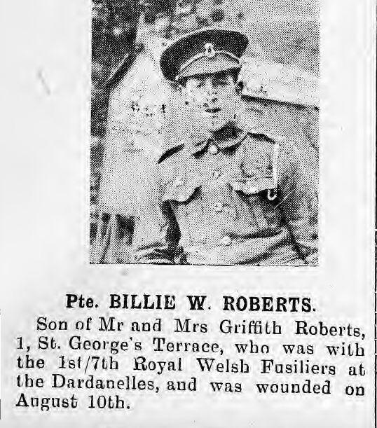 Roberts, Bille, W. 1.7 RWF WIA 10.08.15