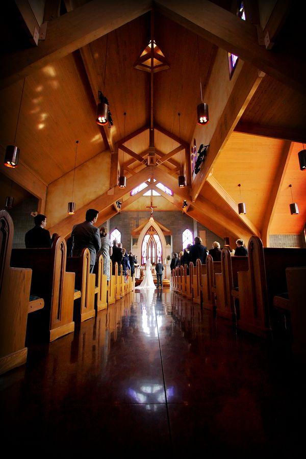 Rustic Deer Valley church