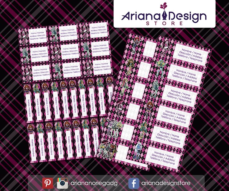 #etiquetas #etiquetasescolares #monsterhigh #arianadesignstore #draculaura #monster #monsterhighdoll #nametag #label #school #stickers #schoolsupplies